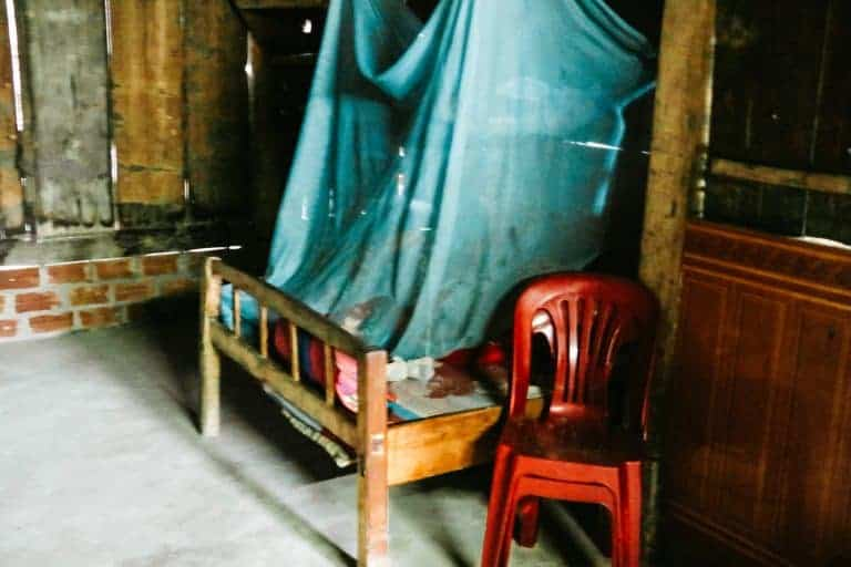 bedroom at a homestay in sapa