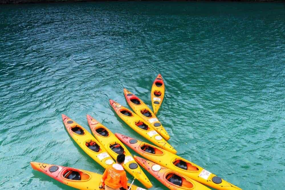 Kayaks - ethical way to tour Halong Bay
