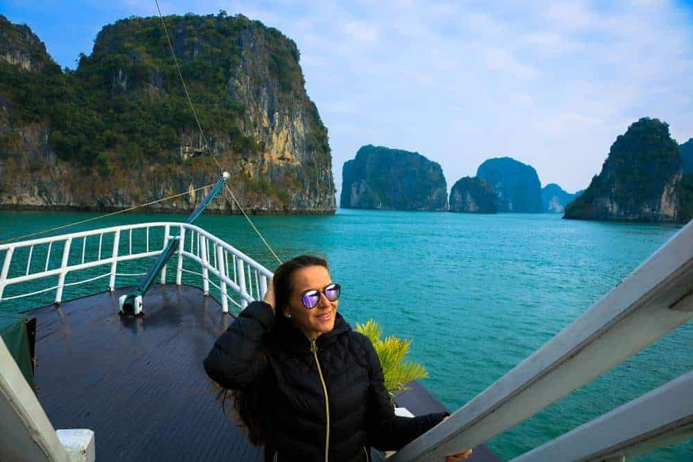Halong Bay - not too tropical weather during winter, you will need a jacket