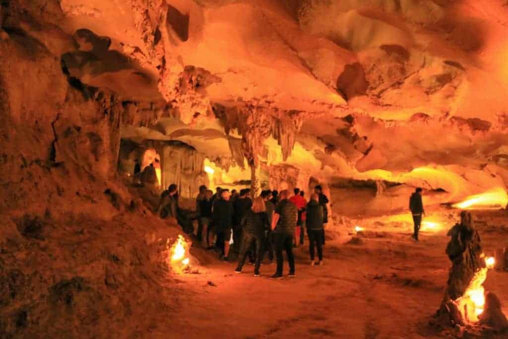 Cave tour at Halong Bay