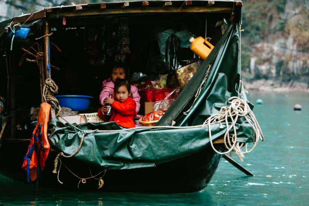 Local fisherman on Halong Bay
