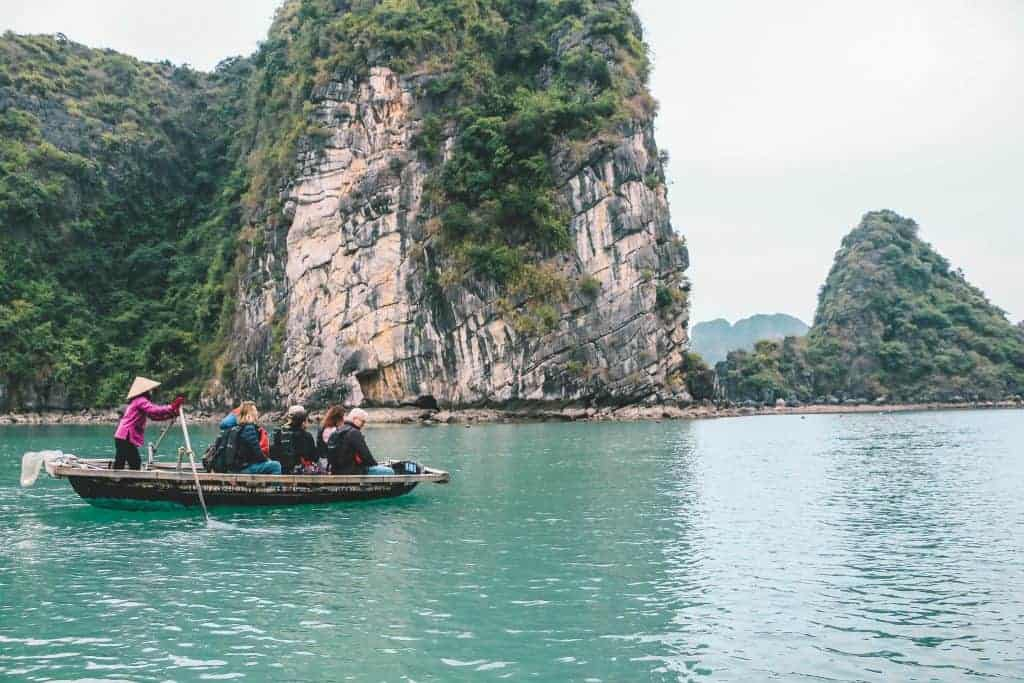 Ethical Row boat tour Halong Bay
