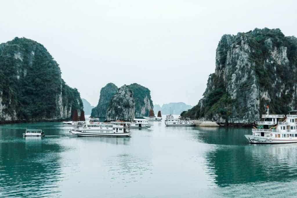 over-tourism on Halong Bay