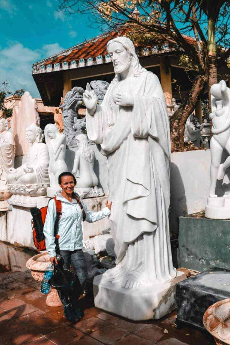 Marble statue sold outside the Mountain