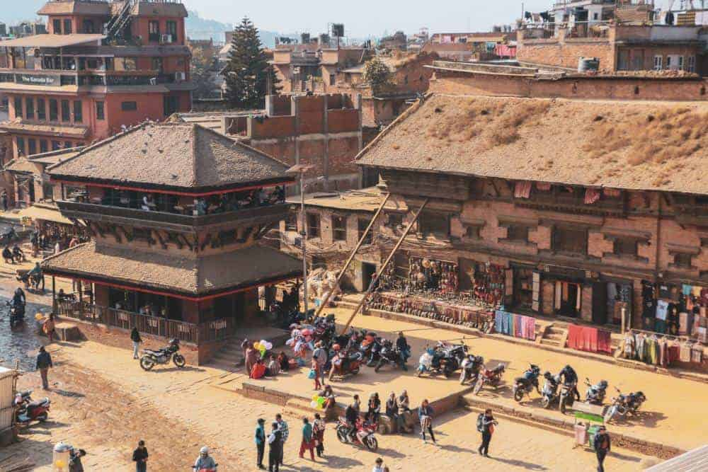 Bhaktapur Durbar Square located in the Kathmandu Valley