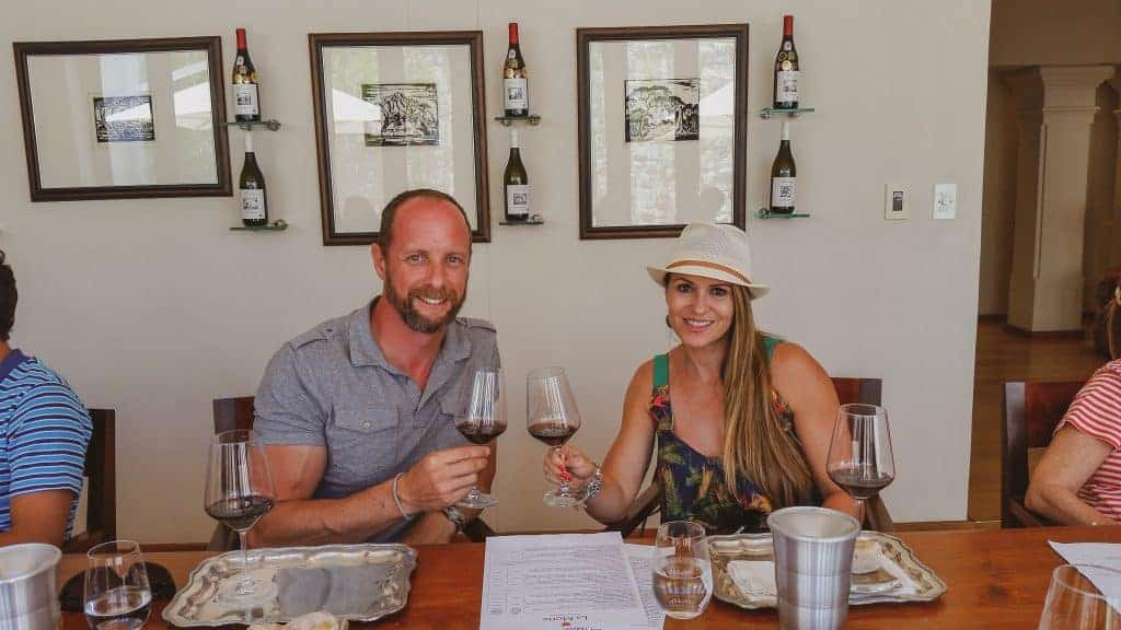 Couples enjoying wine together when we travel