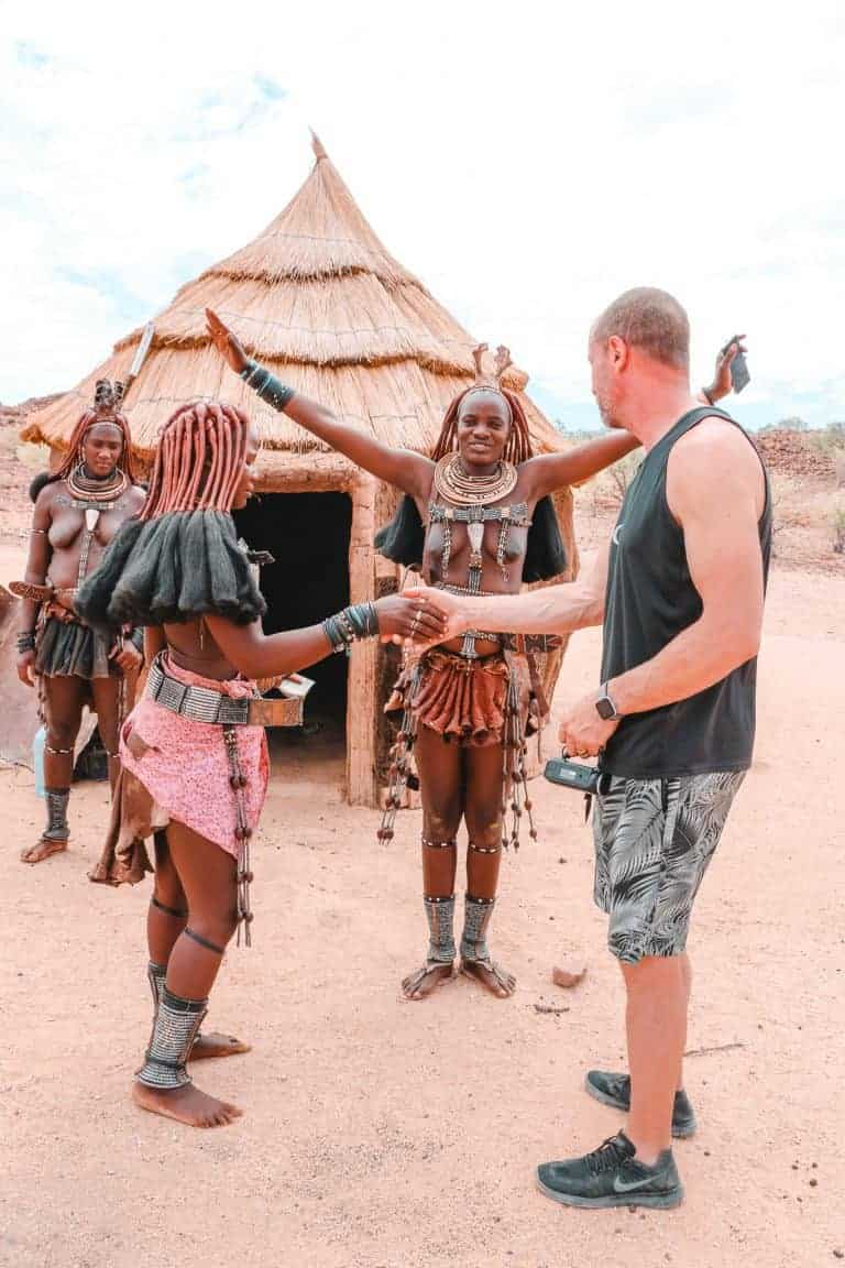 himba tribe visiting as a couple