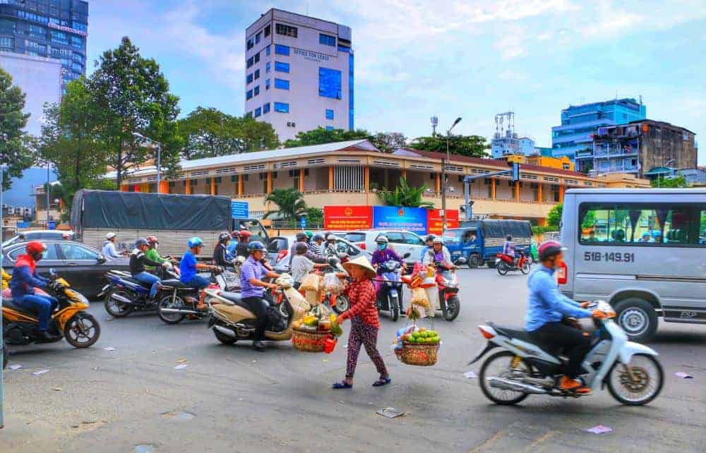 Busy streets in Ho Chi Minh City
