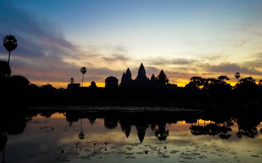 The sunrise in Angkor Wat was my bucket list