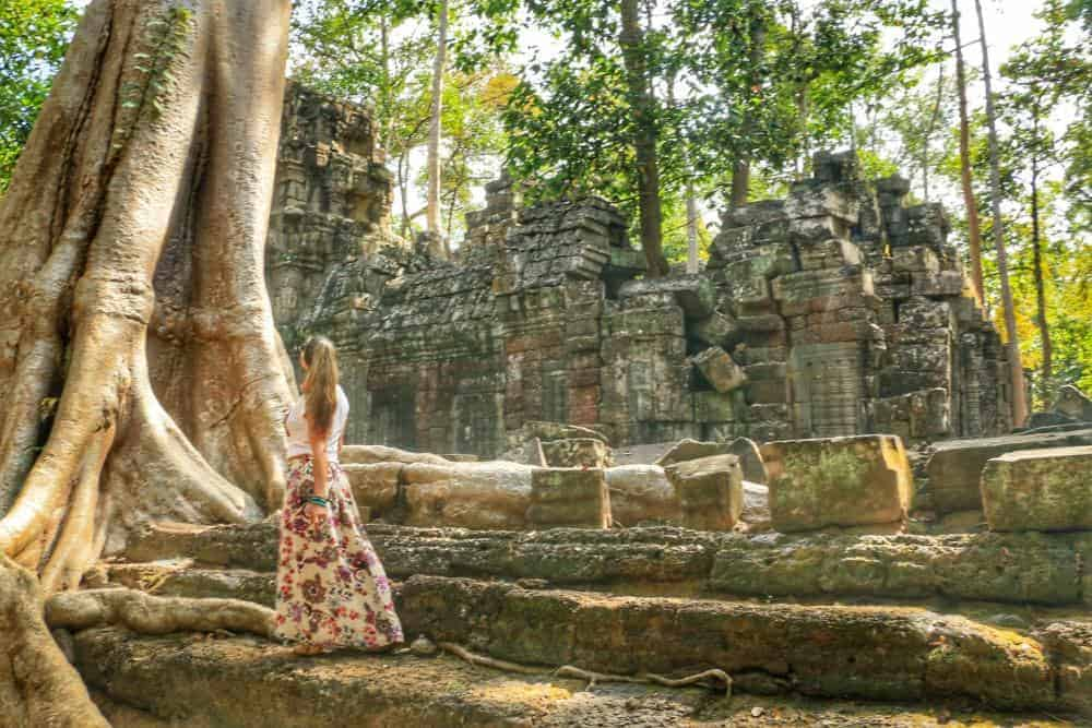 Exploring one of the remotes temples in the jungle