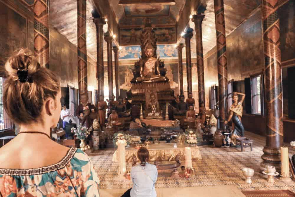 Visiting inside the Pagoda