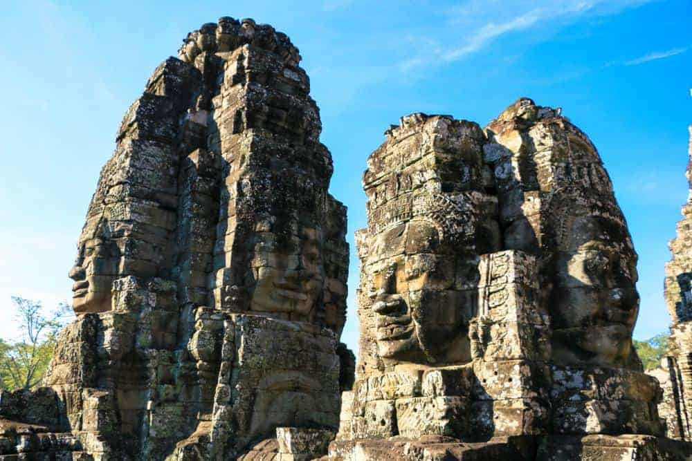 Bayon Temple famous for the many faces of Buddha