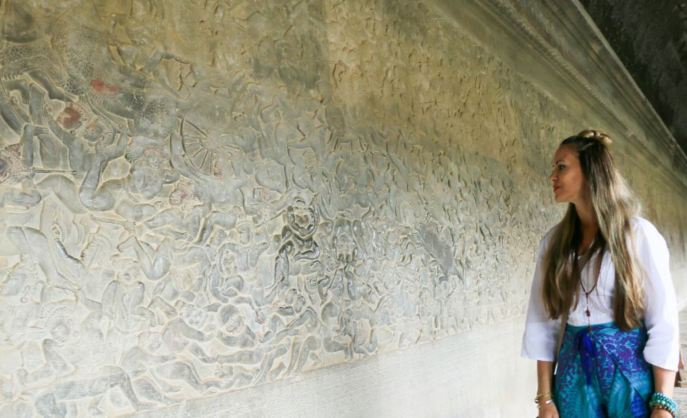 You can spend hours exploring the history on the wall carvings