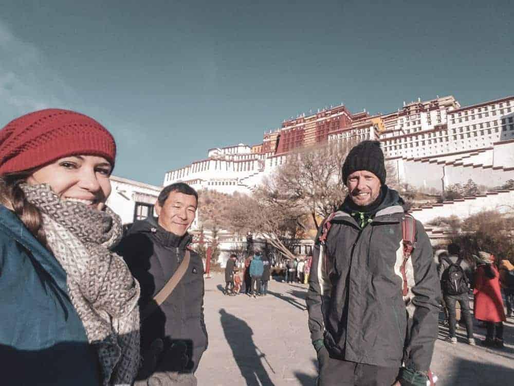 lhasa tibet potala palace winter