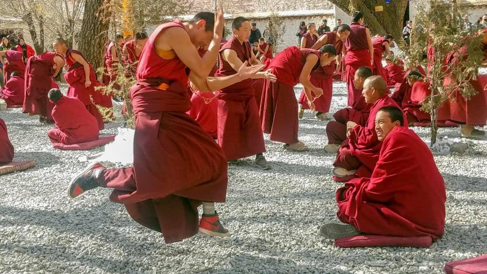 drepung monks debate lhasa tibet