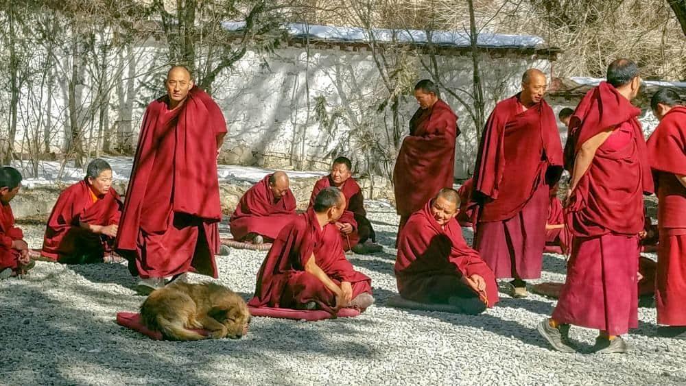 drepung monastery lhasa tibet monks