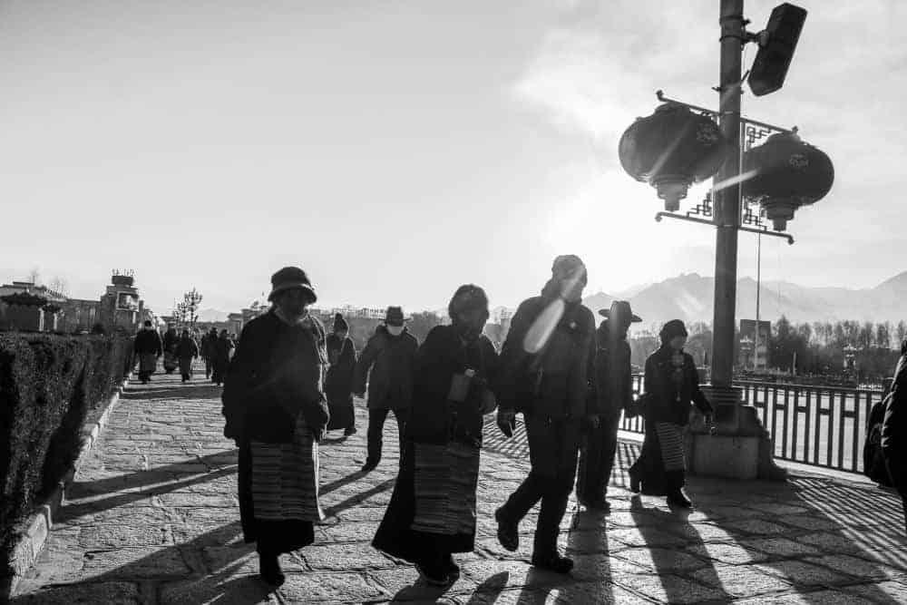 pilgrims in lhasa tibet