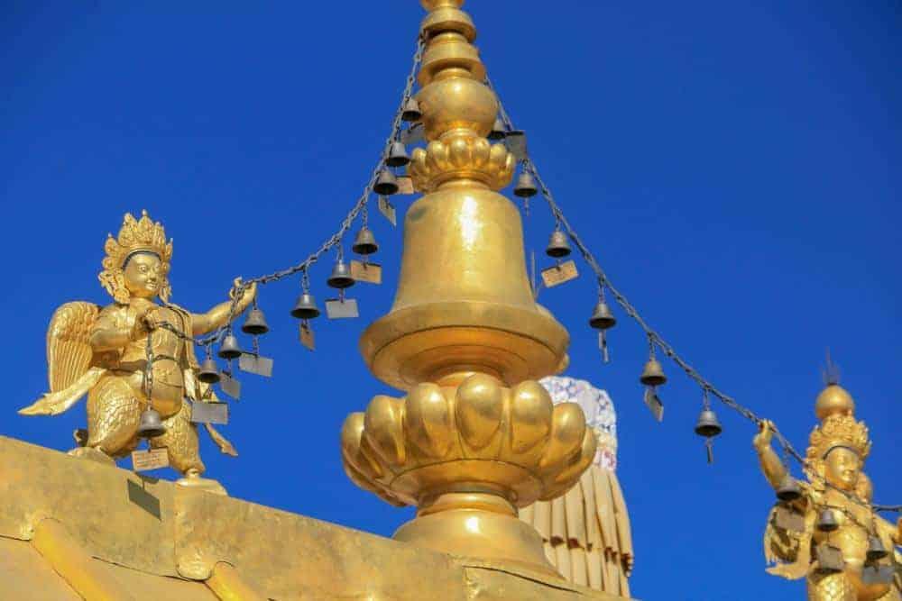 lhasa tibet top of jokhang temple