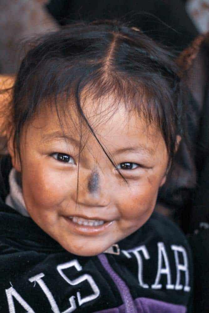 lhasa tibet little girl