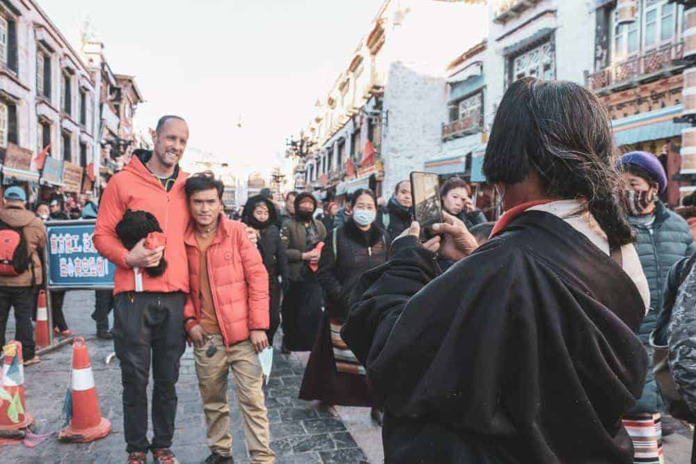lhasa tibet photo with local people