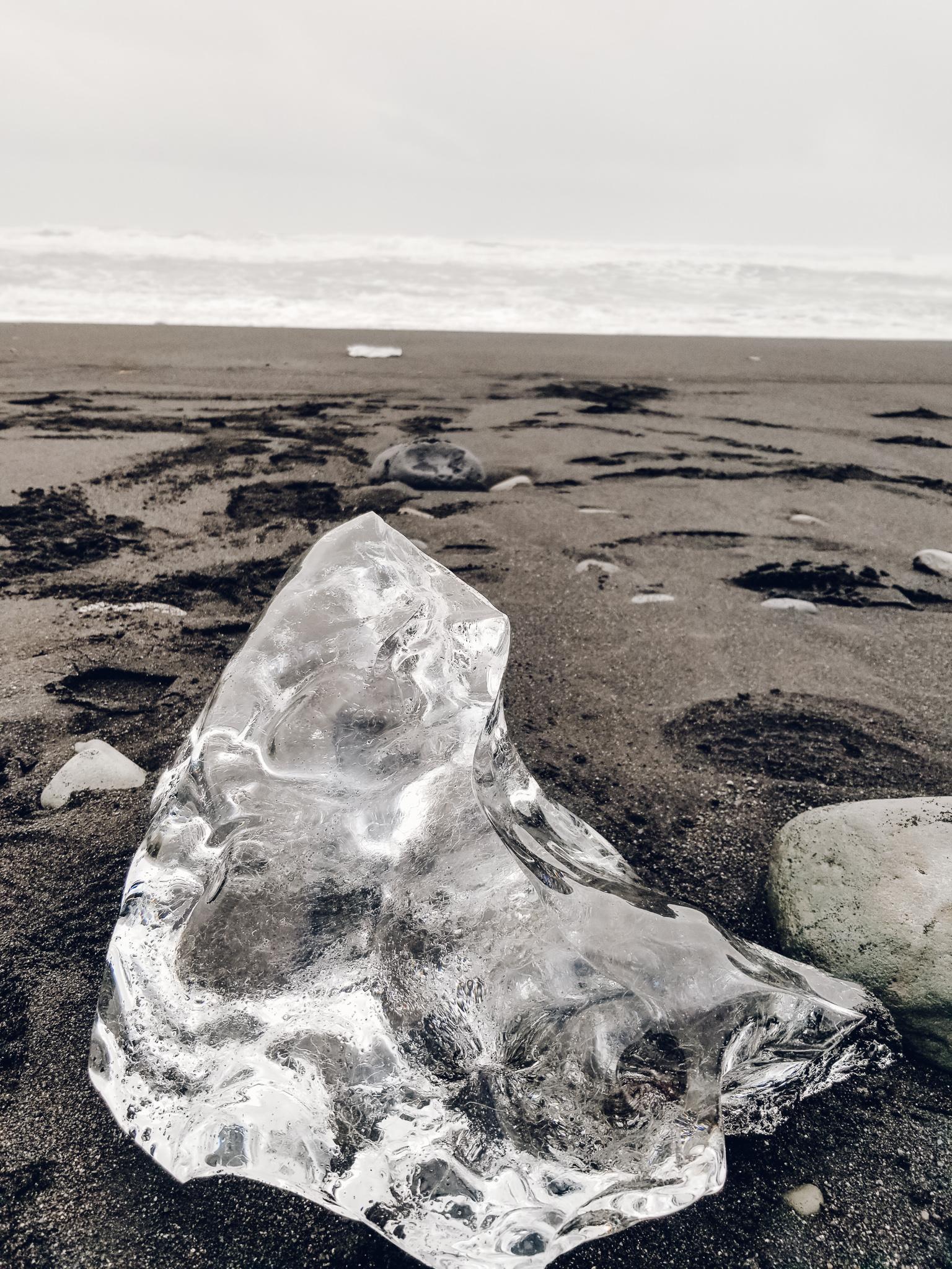 Ice at Black Beach