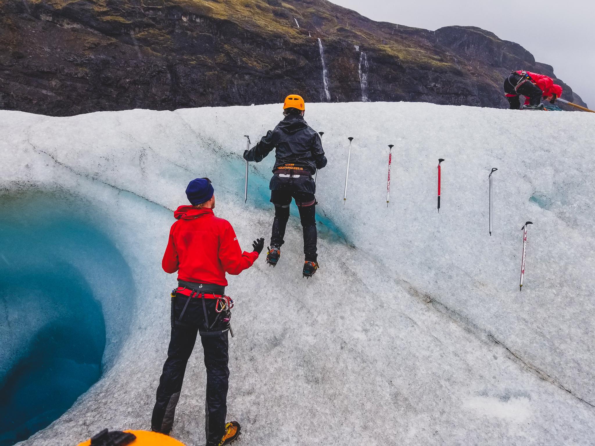Ice climb practice
