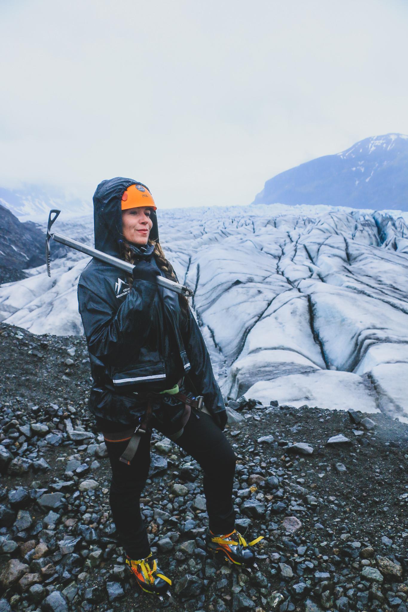 Ready for the glacier hike Skaftafellsjokull