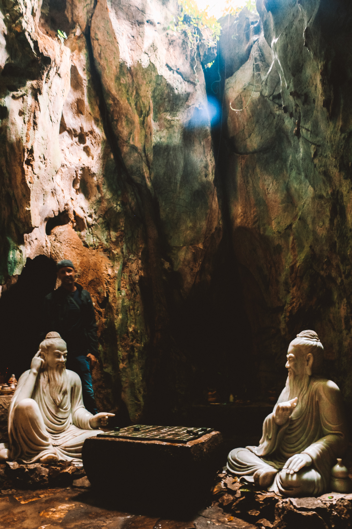 Statues inside the Marble Mountains