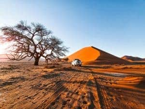 Namibia self-drive road trip map