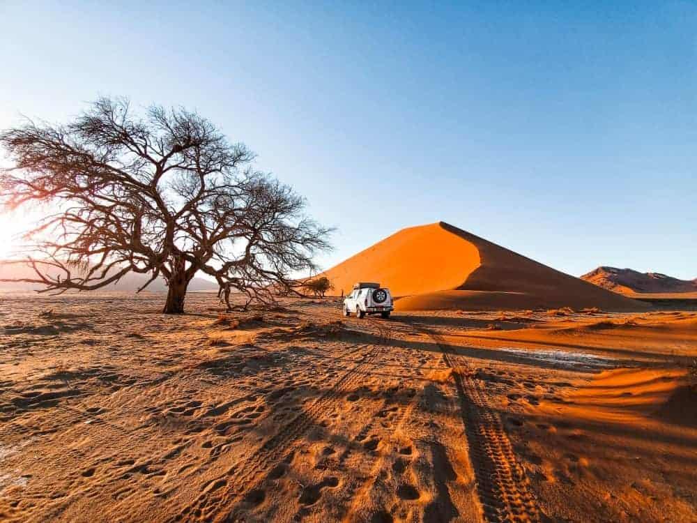 Namibia self-drive road trip map