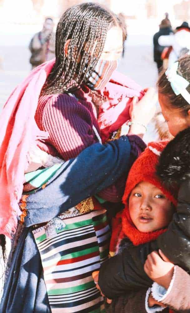 Curious boy in Tibet