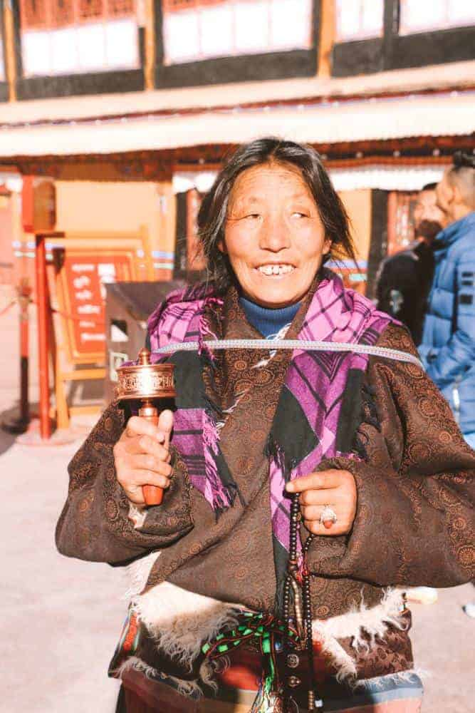 a woman in Tibet
