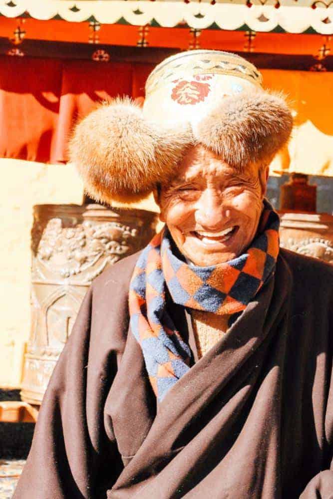 a man in Tibet