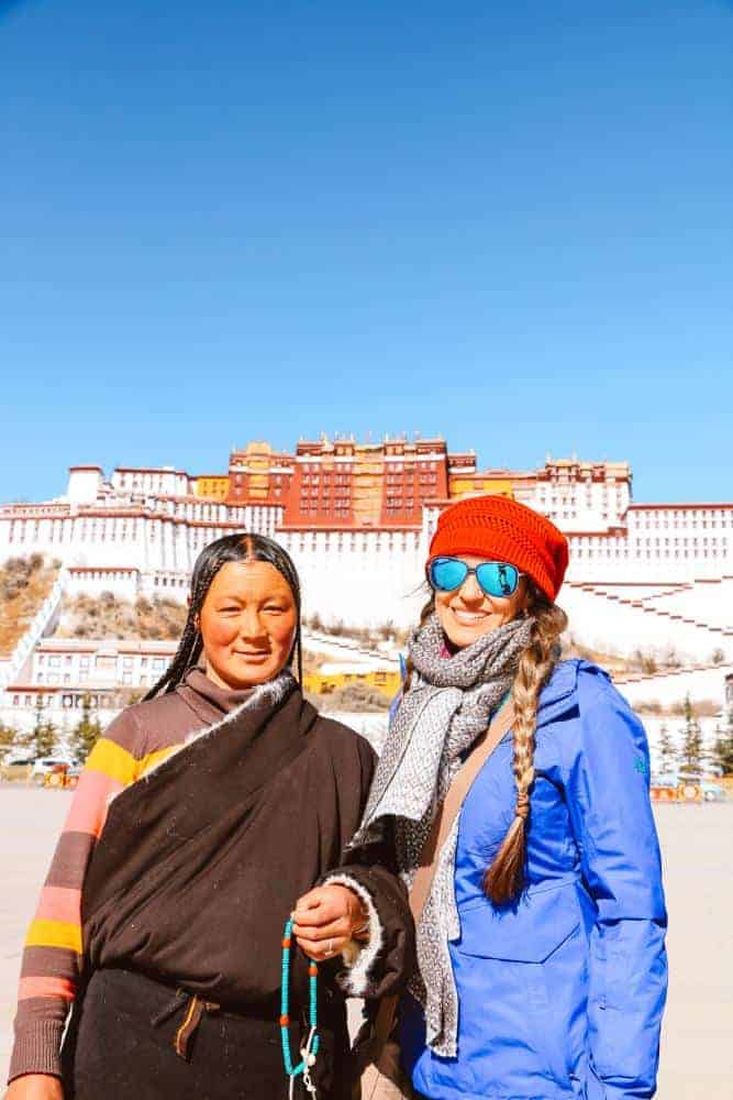In front of Potala Palace
