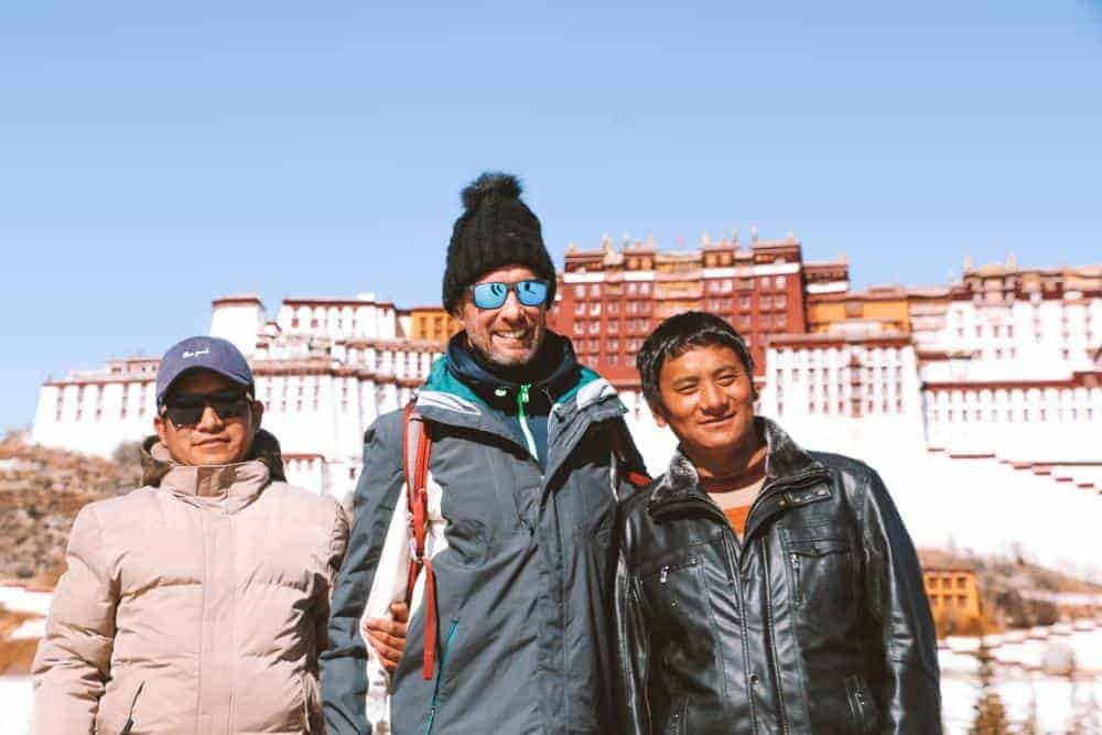People of Tibet in front of Potala Palace