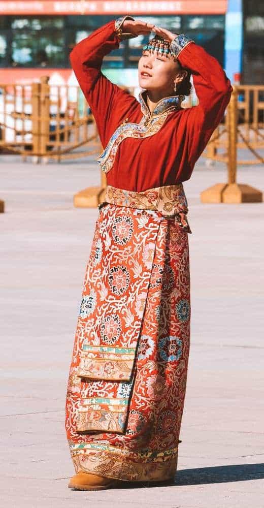 Face of a strong spirit in Tibet