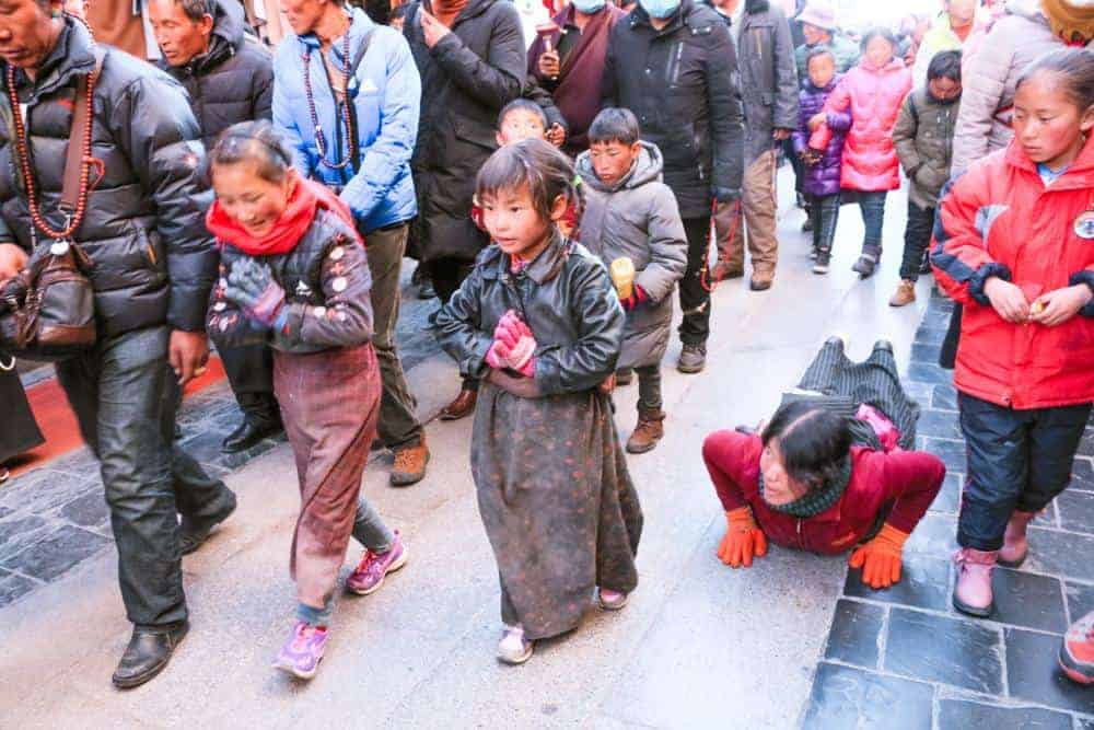The truth behind the occupation in Tibet can be seen on the kids