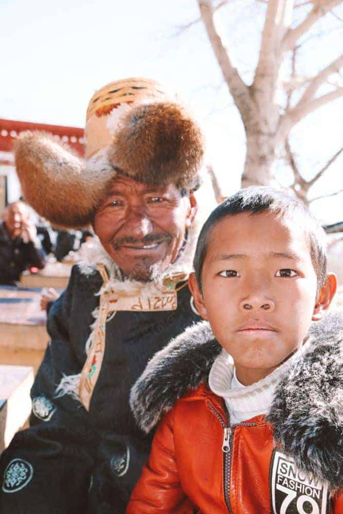 Family in Tibet