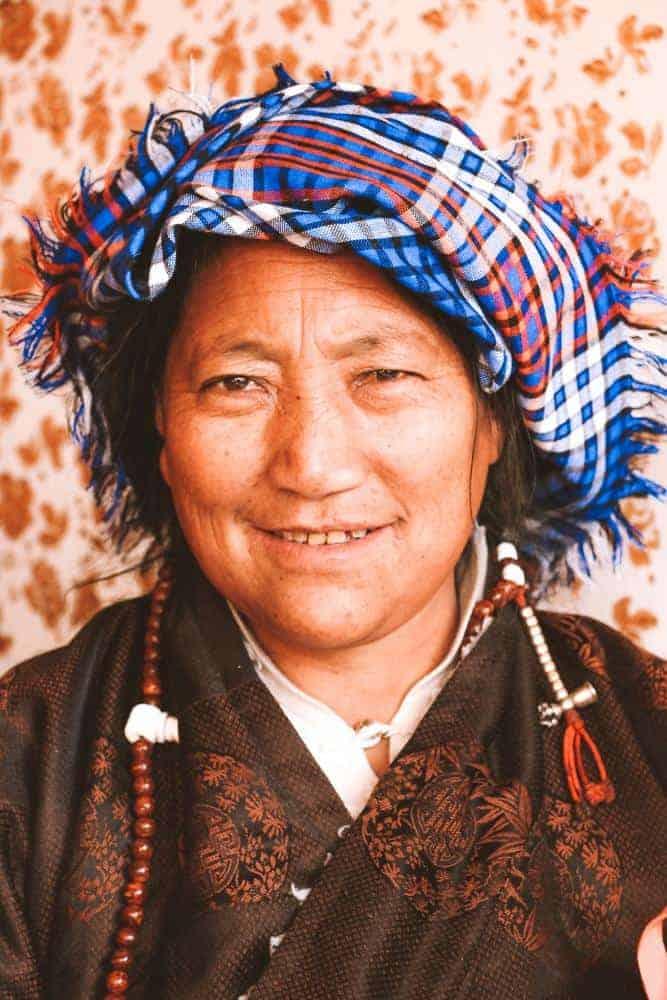 Woman in Tibet