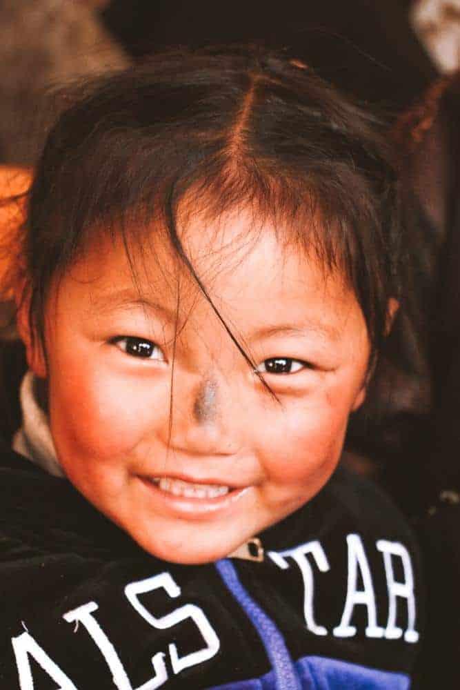 Little girl in Tibet