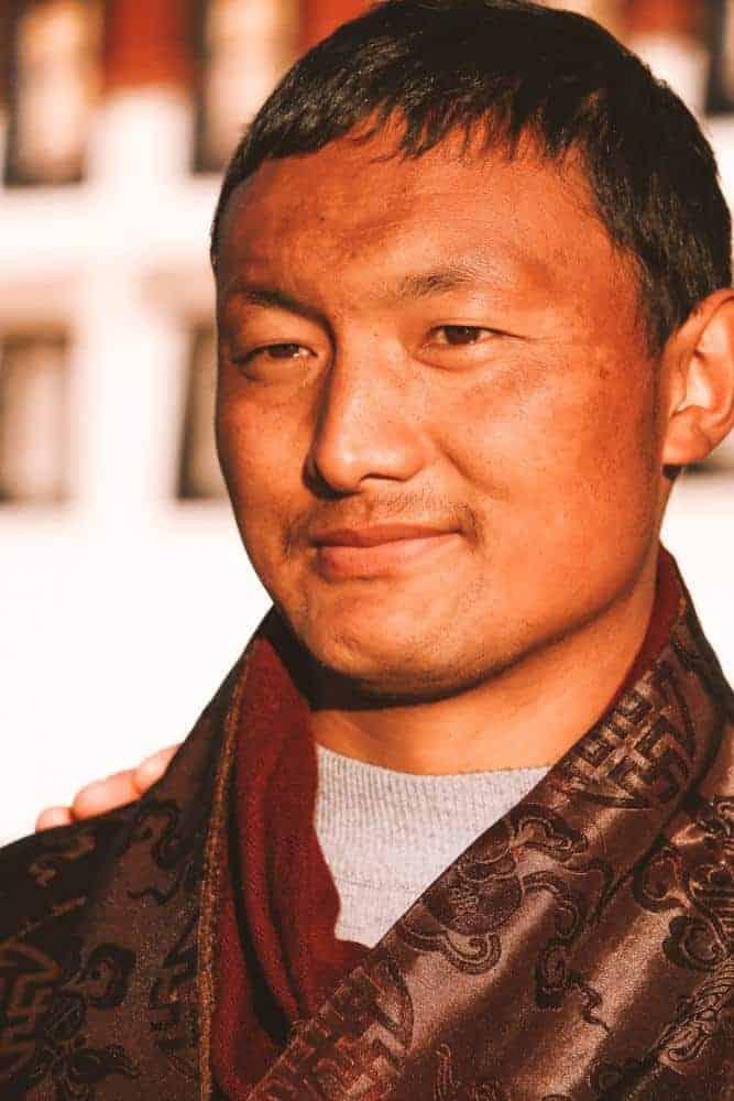Man in Tibet