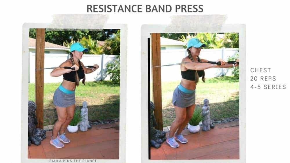 Resistance band full body workout