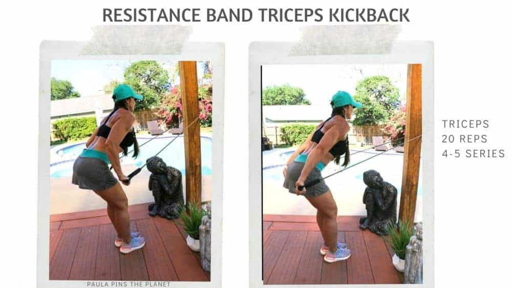 Resistance band triceps workout