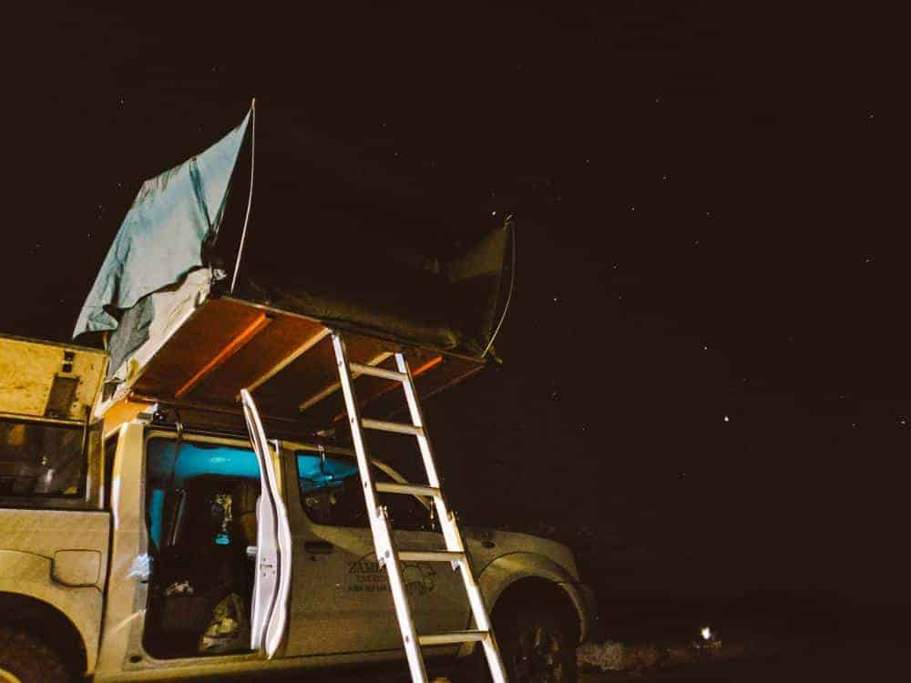 Botswana camping under the stars in the remote camping