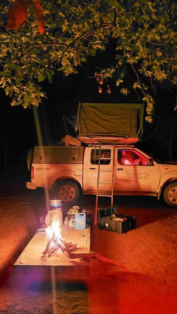 Wild camping in Botswana safari