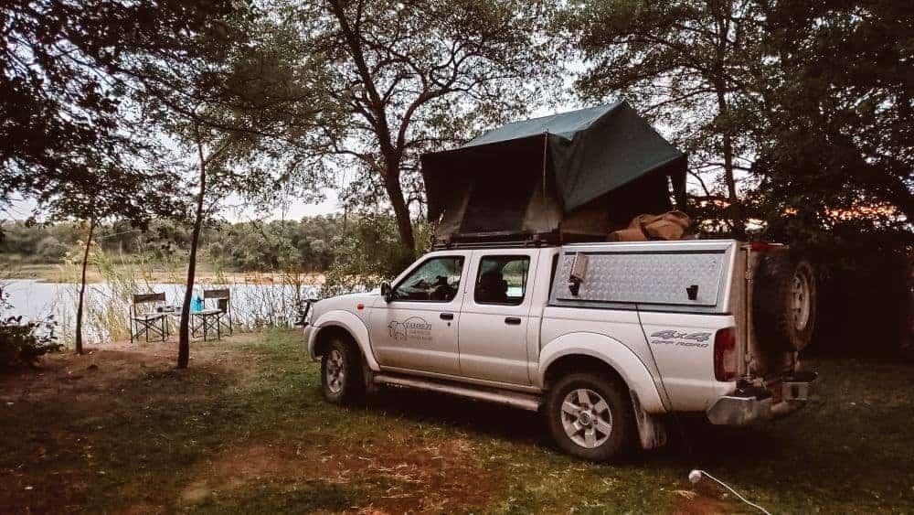 Safari in Botswana in remote camping