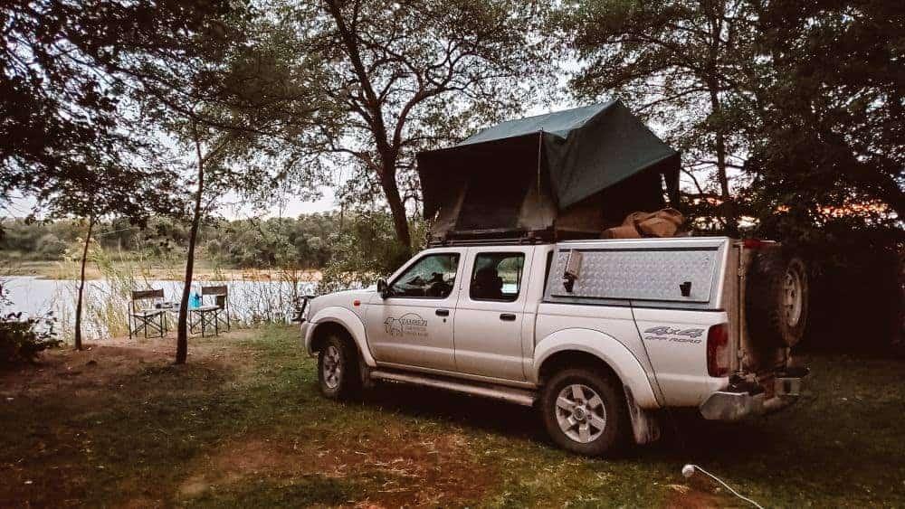 Safari in Botswana in remote camping
