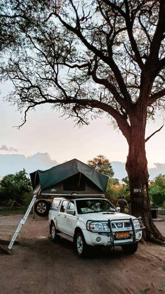 Wild camping in Botswana Xakanaxa camping