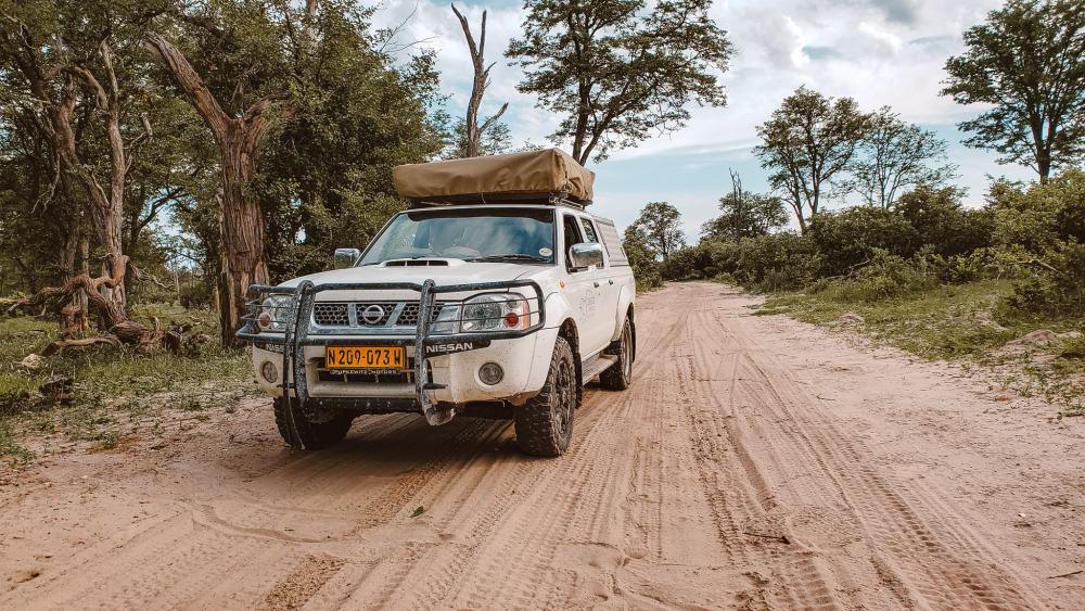 Wild camping safari in Botswana