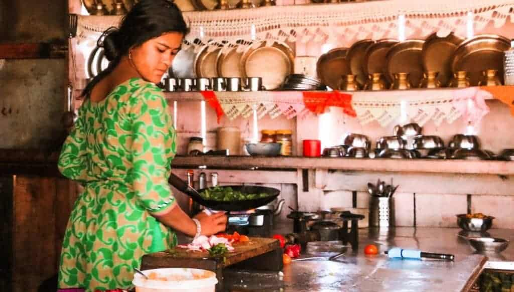 a fact about Nepal is that they cook the food from scratch